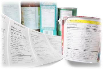 Nutrition Facts, NFT, NFP, labels and graphics on products