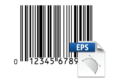 Sample UPC barcode with Illustrator™ CS icon