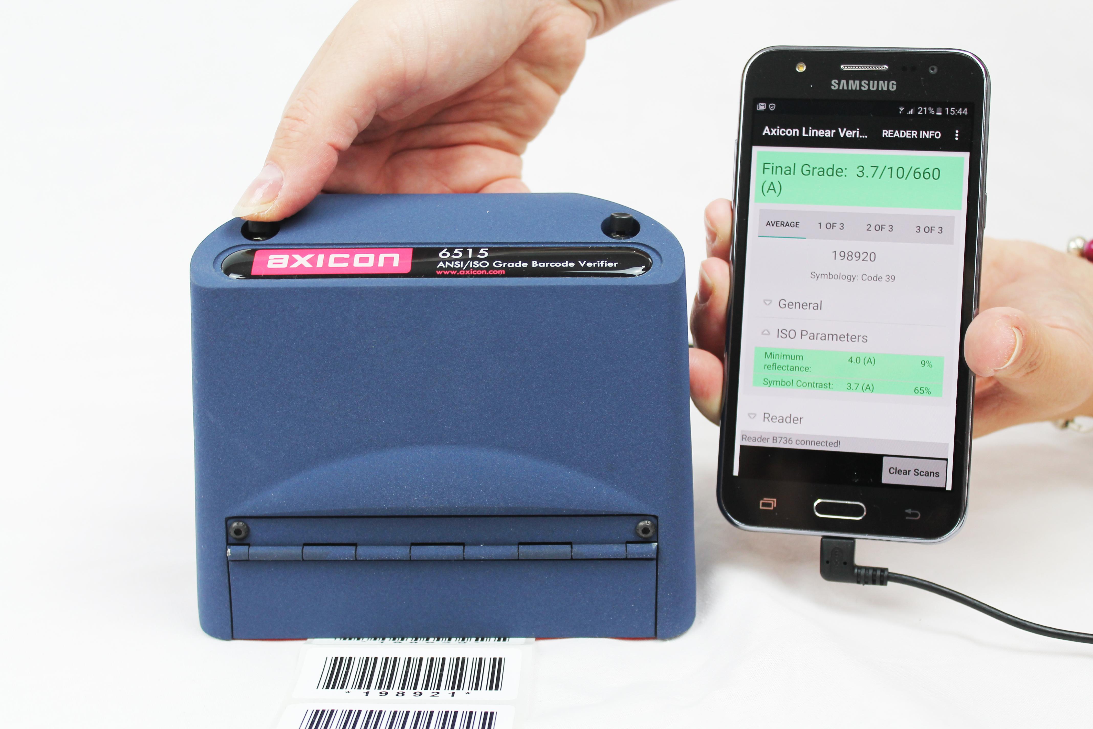 Barcode Verification axicon portable barcode verification | barcode graphics